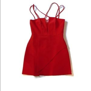 Bcbg linzee red cut out dress size 8